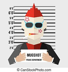 Mugshot Of Gangster. - Mugshot Of Gangster Vector...
