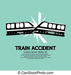 Train Accident. - Train Accident Graphic Vector...