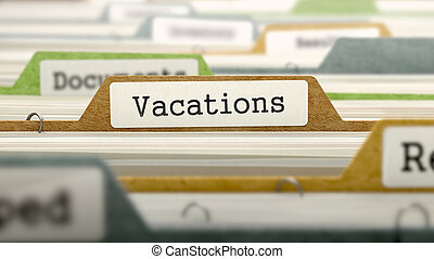 Vacations on Business Folder in Catalog. - Vacations on...