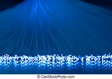 Fibre optic light strands - Close up capturing the ends of...