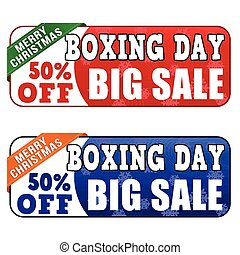 Boxing day big sale banners on white background, vector...
