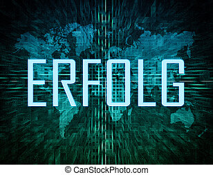 Erfolg - german word for success or achievement text concept...