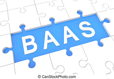 Backup as a Service - BaaS - Backup as a Service - puzzle 3d...