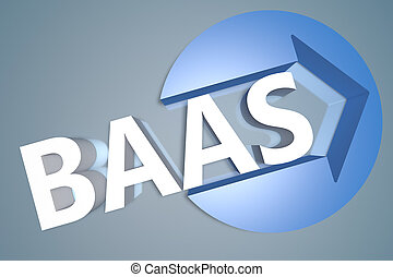 Backup as a Service - BaaS - Backup as a Service - text 3d...
