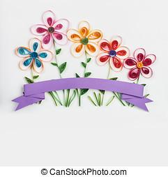 wiosna, Kwiecie, Robiony, quilling, ,