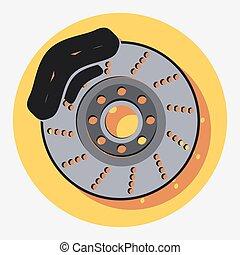 brakeseps - brakes circle icon with shadow