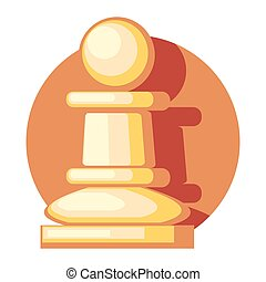 chess figure 2.eps - pawn figure icon with shadow