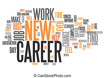 Word Cloud New Career - Word Cloud with New Career related...