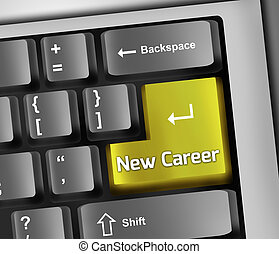 Keyboard Illustration New Career