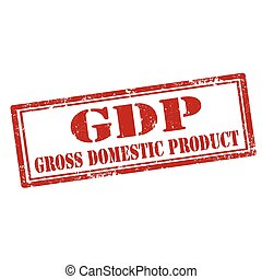 Gross Domestic Product - Grunge rubber stamp with text...