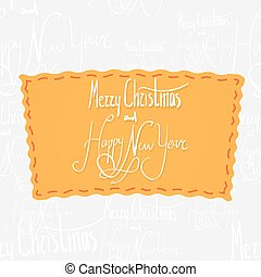 Holiday greetings lettering - Happy New Year. Handwritten...