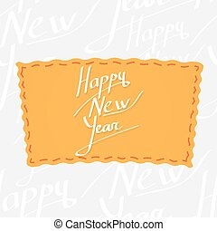 Holiday greetings lettering - Happy New Year Handwritten...