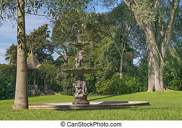 Garden with Fountain at Villa Ocampo in San Isidro Buenos...