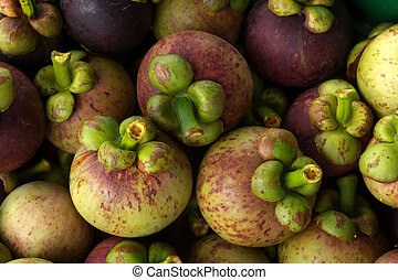 Fresh Mangosteen from tree for delivered to the market....