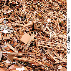 Pile of wood - Wood for combustion in a biomass firing...