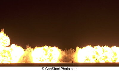 Big Fire Explosion - Big fire explosion from pyrotechnic.