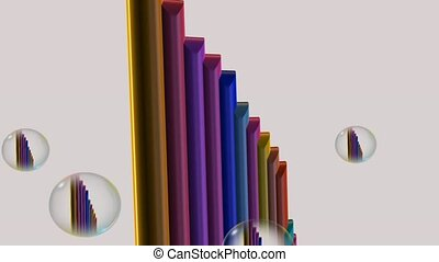 bar chart rotate - an illustration of bar charts being drawn