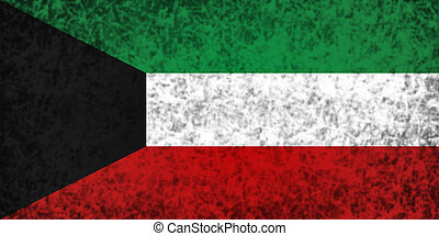 Flag of Kuwait - Flag of Kuwait in grunge style