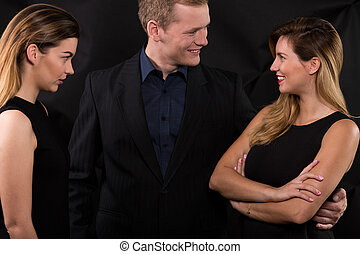 Woman is very jealous - Attractive woman is very jealous of...
