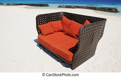 sofa at beach