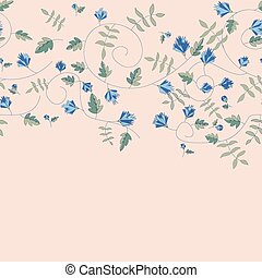 Cornflower pattern. Vector seamless texture