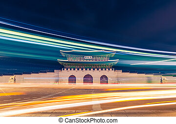 Gwanghwamun gate of Gyeongbokgung Palace in Seoul, South...