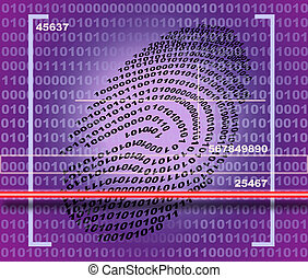 Fingerprint scanner made in 2d software