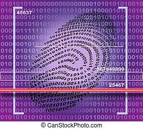 Fingerprint scanner made in 2d software