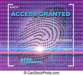 Access granted - Fingerprint scanner. Access granted