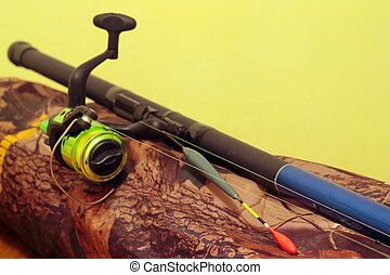 Fishing bobber with a fishing rod - fishing bobber with a...