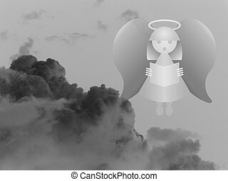 Heavenly Angle - Representation of Christian heaven with...