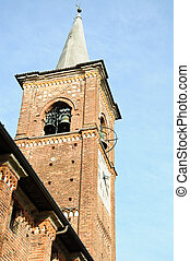 Detail of the bell tower of the medieval church of...