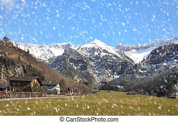 olmo, aldea, suiza,