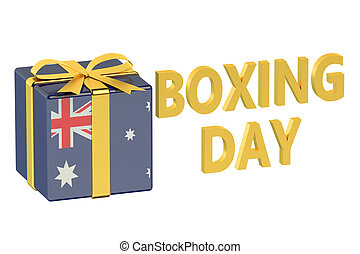 boxing day concept with flag Australia