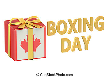 boxing day concept with flag Canada