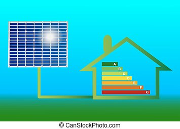 house with solar panel