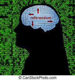 Referendum in mind concept