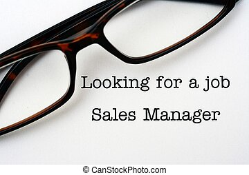 Looking for a job Sales Manager