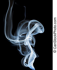 Wisp of smoke - wisp of smoke on black background