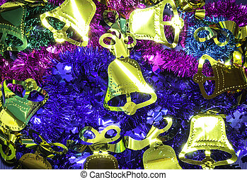 Chistmas decoration background - Closeup colorful of...