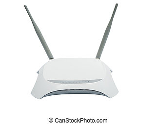 White router isolated