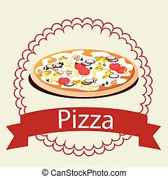 Pizza italian food graphic design, vector illustration eps10