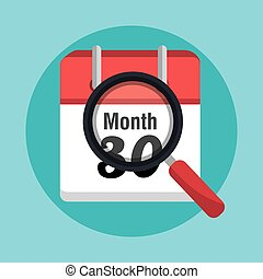 End of month calendar icon graphic design, vector...