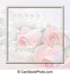 Soft Pink Roses - Graphic ideal for weddings,showers, baby,...