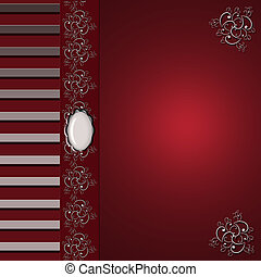 Burgandy Elegance - Burgandyred elegant background with...