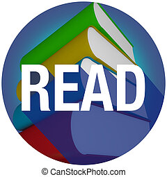 Read Long Shadow Word Books Learn Education School Library Circle