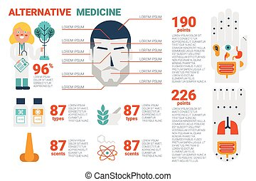 Alternative Medicine Concept - Illustration of alternative...