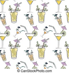 Cokctail night life graphic design, vector illustration