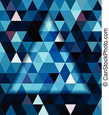 Blue triangle and dark blue shadow background