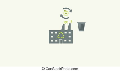 Recycling garbage and waste utilization concept in flat...